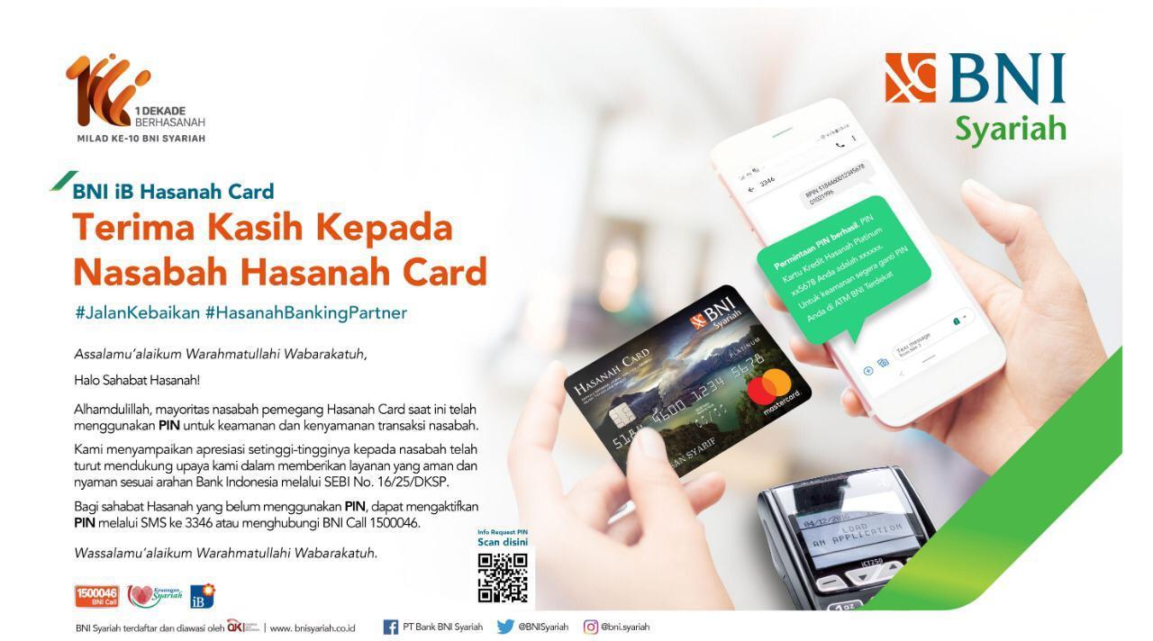 Demi Keamanan Dan Kenyamanan Nasabah Transaksi Kartu Kredit Bni Syariah Wajib Pakai Pin Inanews