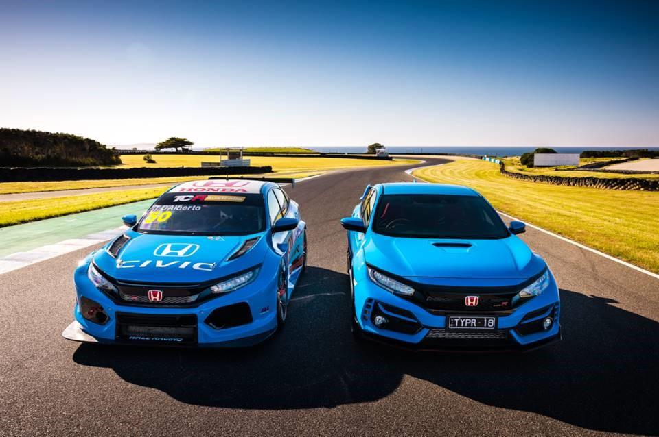 """Honda Menampilkan Warna """"Racing Blue Pada Ajang Honda Civic Type R TCR di  Austrulia - INAnews"""